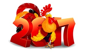New Year 2017, cock