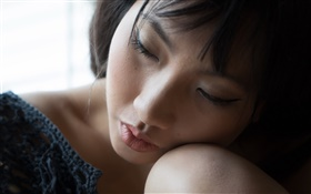 Asian girl sleeping