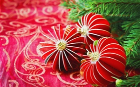 Christmas, decoration, toys, twigs HD wallpaper