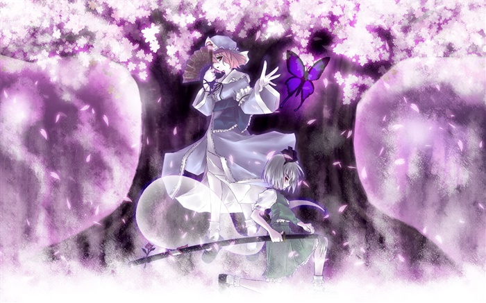 Japanese anime girls, sakura Wallpapers Pictures Photos Images