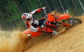 KTM motorcycle race HD wallpaper