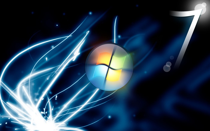Windows 7 abstract background, light, space Wallpapers Pictures Photos Images