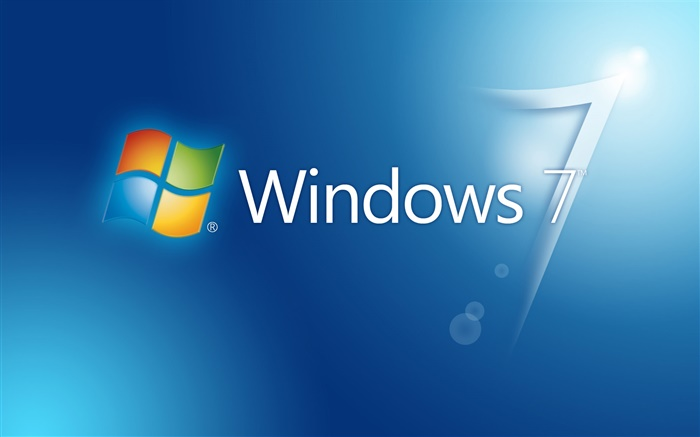 Windows 7 blue background, glare Wallpapers Pictures Photos Images