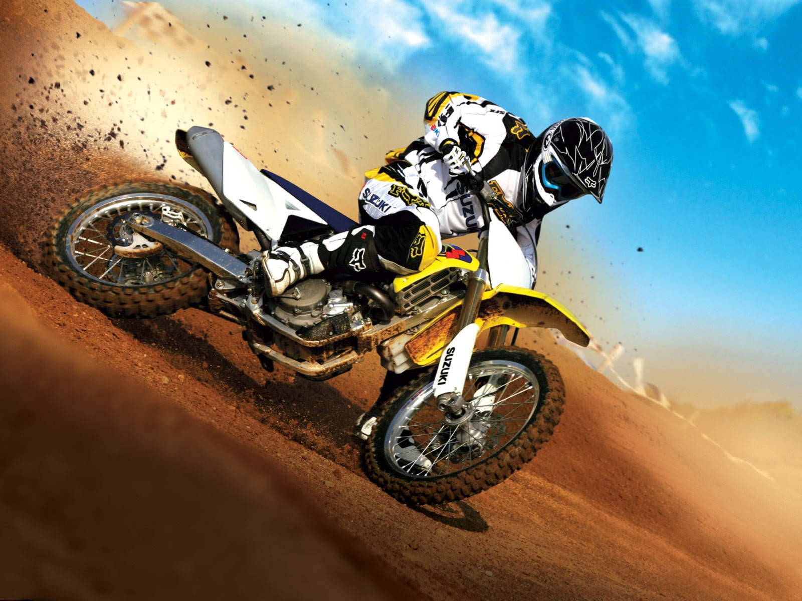 Suzuki motorcycle race 1600x1200 wallpaper