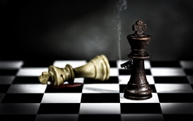 Chess use gun, creative design HD wallpaper