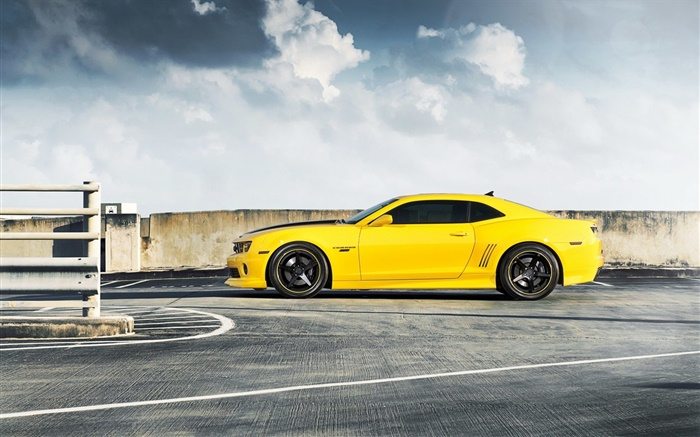 Chevrolet Camaro RS yellow car side view Wallpapers Pictures Photos Images