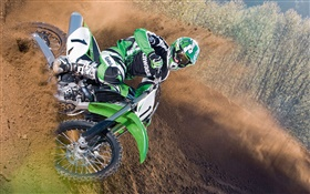 Kawasaki motorcycle race HD wallpaper