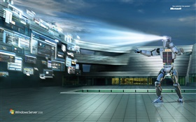 Windows Server 2008 IT robot HD wallpaper