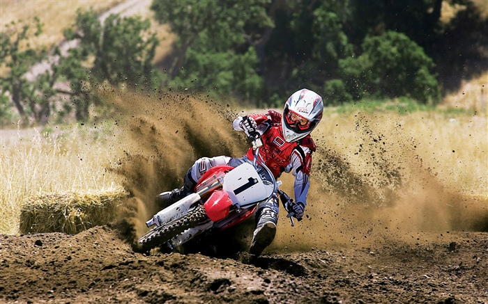 Motorcycle racing, Honda, dirt Wallpapers Pictures Photos Images