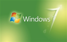 Windows 7 green abstract background HD wallpaper
