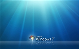 Windows 7 under blue sky HD wallpaper