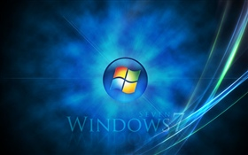 Windows Seven, space background