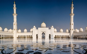 Abu Dhabi, Sheikh Zayed Grand mosque, UAE HD wallpaper