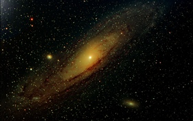 Andromeda Galaxy, stars, space HD wallpaper