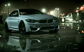 BMW car, rain, Need For Speed