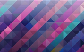 Square and triangle, abstract, colorful HD wallpaper