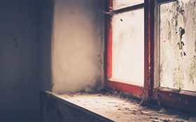 Windowsill, window, dirt HD wallpaper