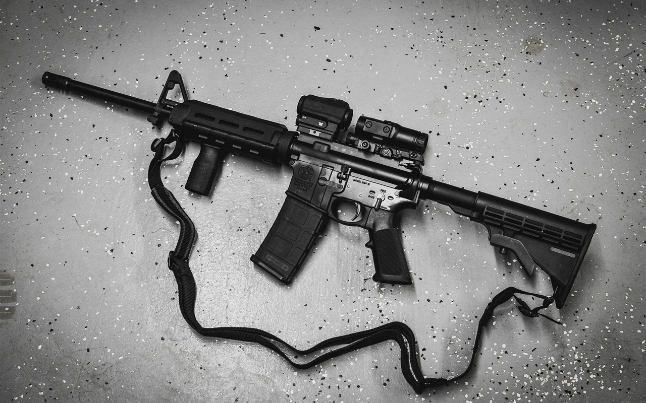 AR-15 semi-automatic rifle 1280x800 wallpaper