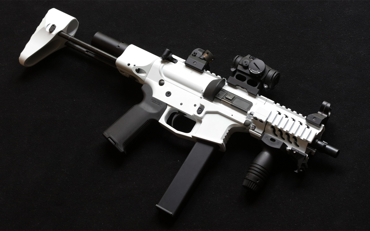 AR-15 style rifle, weapon 1280x800 wallpaper