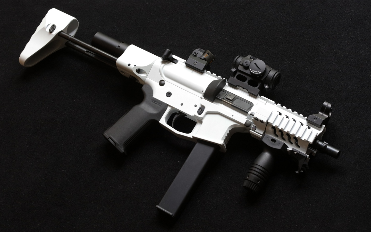 AR-15 style rifle, weapon 1440x900 wallpaper