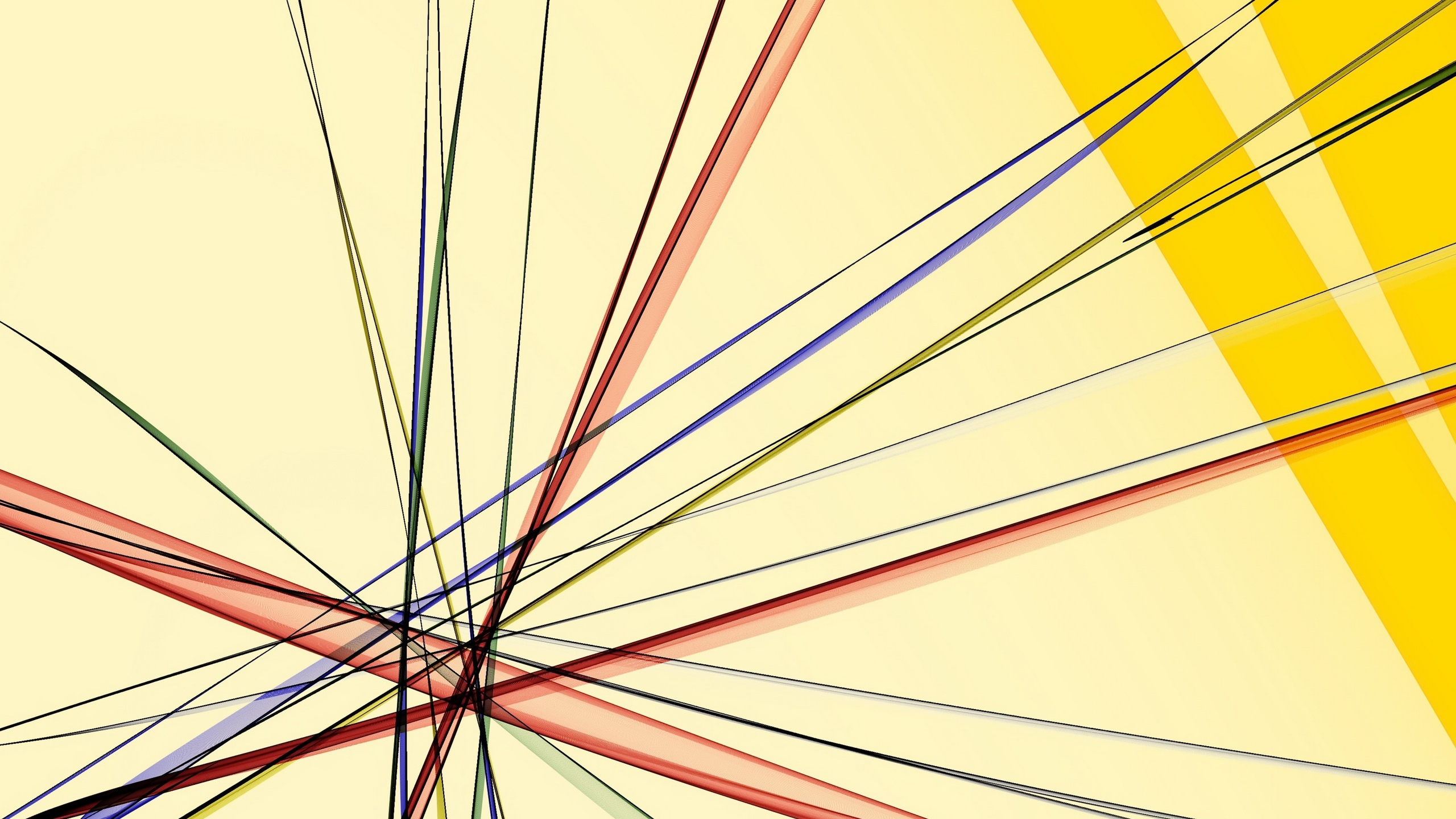 Abstract background, colorful lines 2560x1440 wallpaper