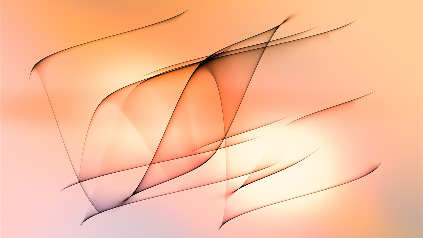 Abstract lines, orange background 1366x768 wallpaper