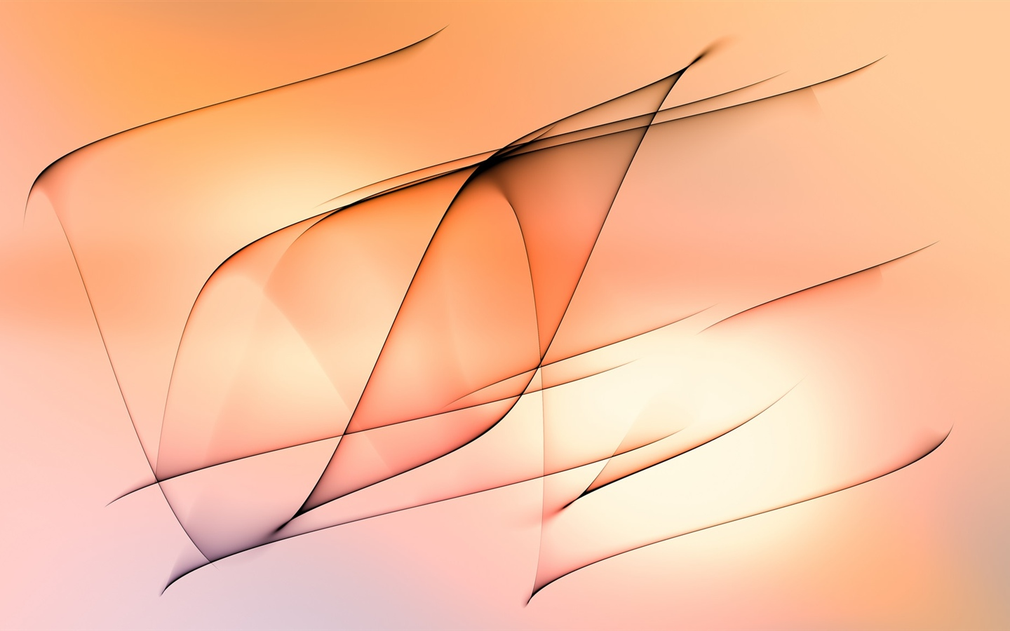 Abstract lines, orange background 1440x900 wallpaper