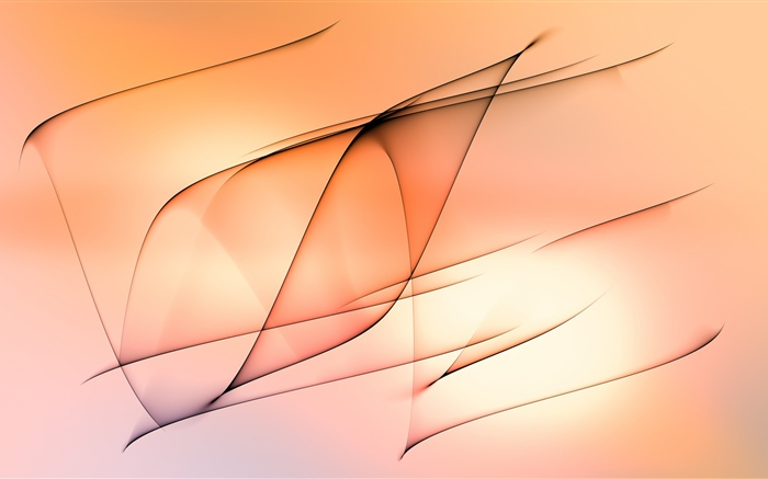 Abstract lines, orange background Wallpapers Pictures Photos Images