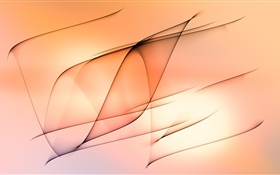 Abstract lines, orange background HD wallpaper