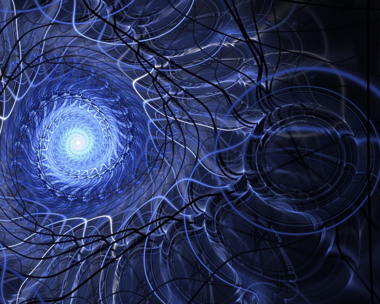 Channel, light, abstract, spiral, creative 1280x1024 wallpaper