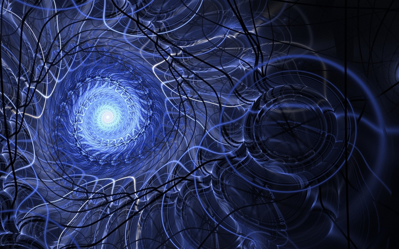Channel, light, abstract, spiral, creative 1280x800 wallpaper