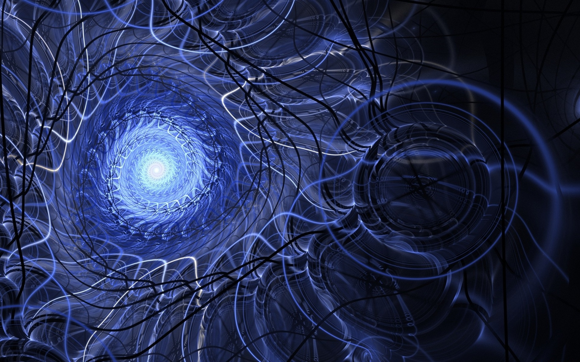 Channel, light, abstract, spiral, creative 1920x1200 wallpaper