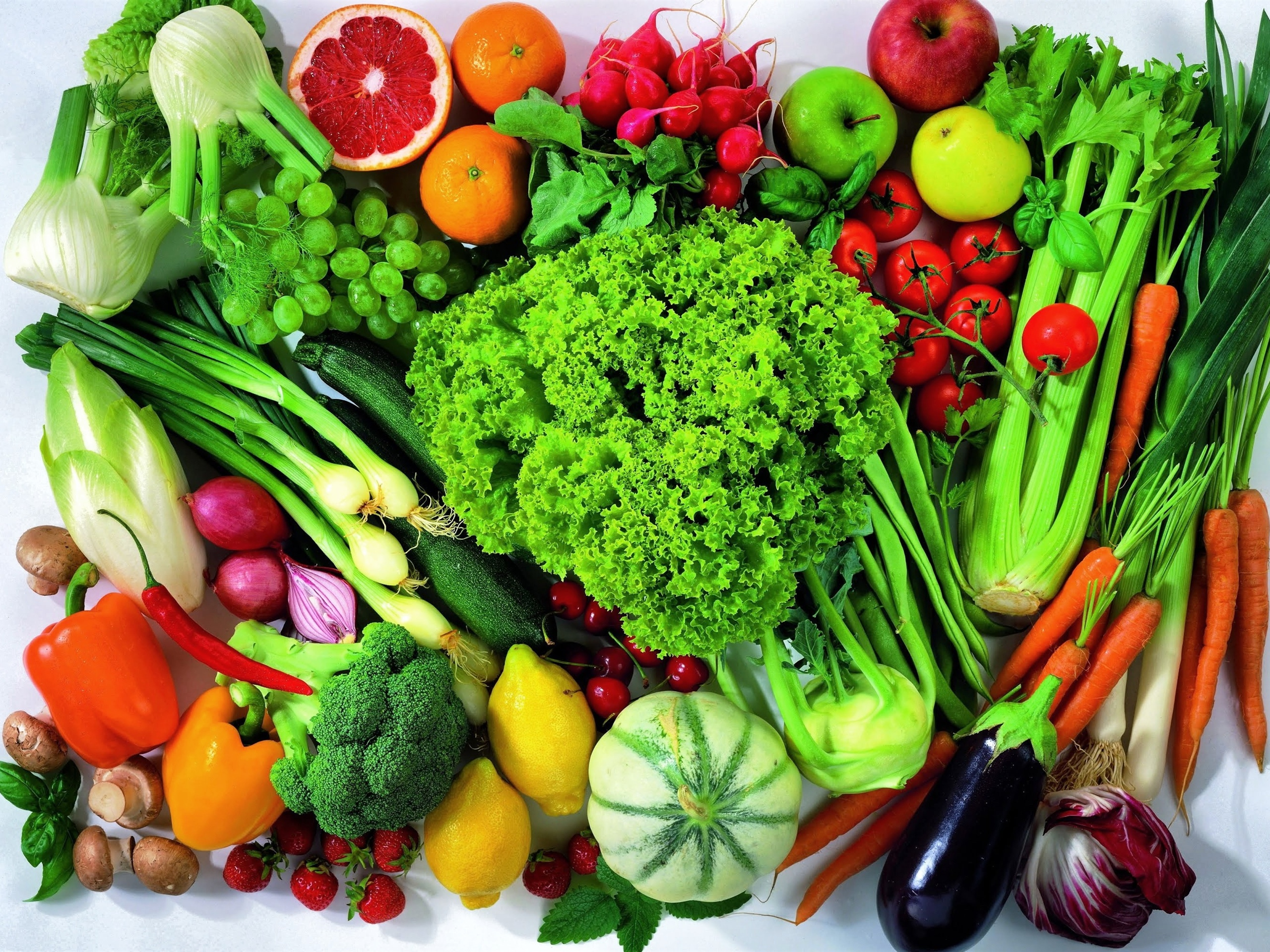 Many kinds of vegetables and fruits 2560x1920 wallpaper