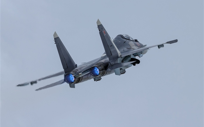 Su-30SM airplane, sky Wallpapers Pictures Photos Images