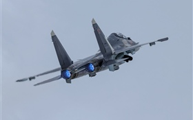 Su-30SM airplane, sky HD wallpaper