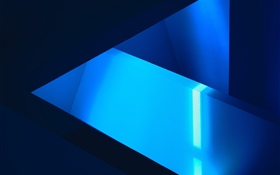 Abstract blue shape picture HD wallpaper