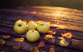 Apples, sunshine HD wallpaper