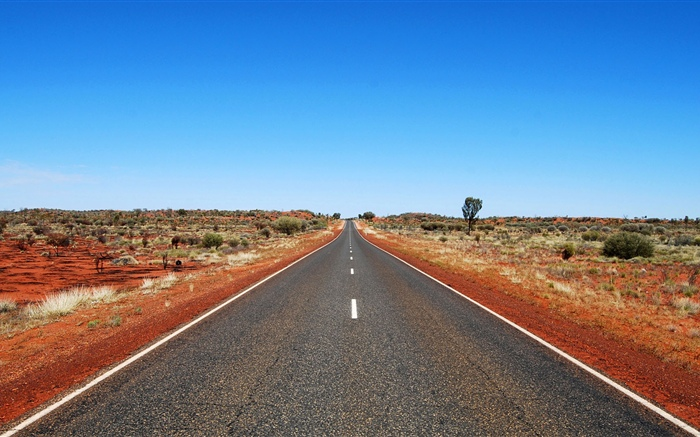 Australia, road, blue sky Wallpapers Pictures Photos Images