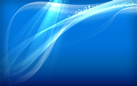 Blue background, abstract curves, shine HD wallpaper