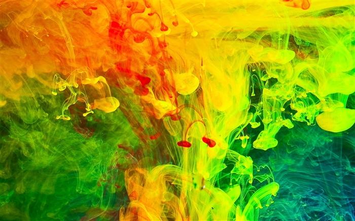 Colorful paint, smoke, abstract picture Wallpapers Pictures Photos Images