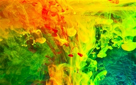 Colorful paint, smoke, abstract picture