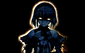 Ghost anime girl, black background HD wallpaper