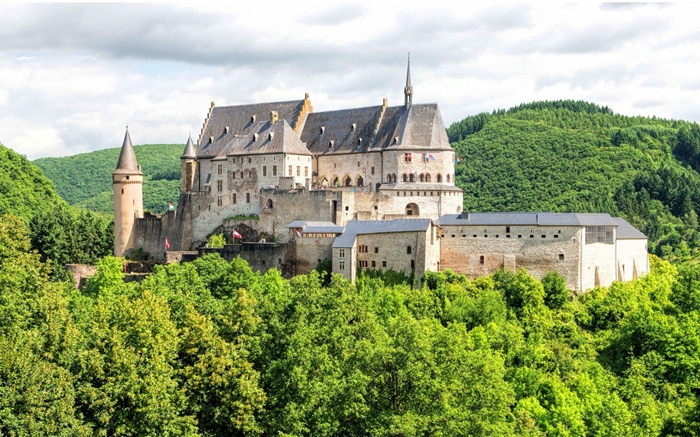 Luxembourg, castle Wallpapers Pictures Photos Images