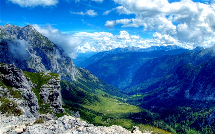 Mountains, valley, beautiful nature landscape Wallpapers Pictures Photos Images