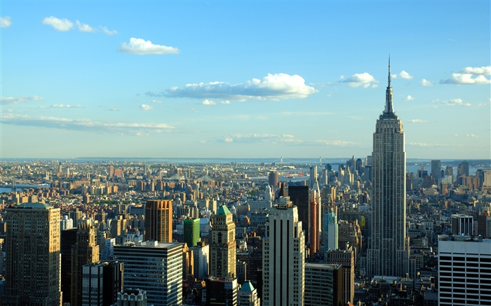 New York, city, skyscrapers, sky, clouds, USA Wallpapers Pictures Photos Images