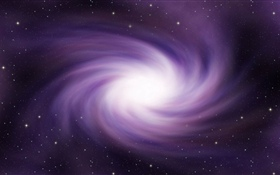 Purple galaxy, space