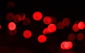 Red light circles, black background HD wallpaper