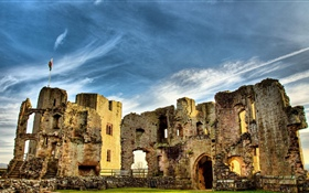 Ruins, castle, UK HD wallpaper