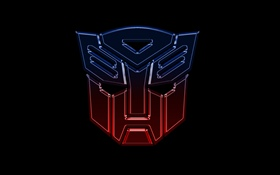 Transformers logo, black background HD wallpaper